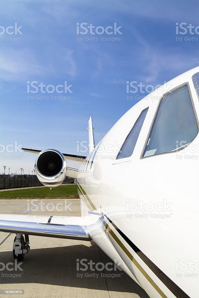 Business Jet. Airplane on the airport. royalty-free stock photo