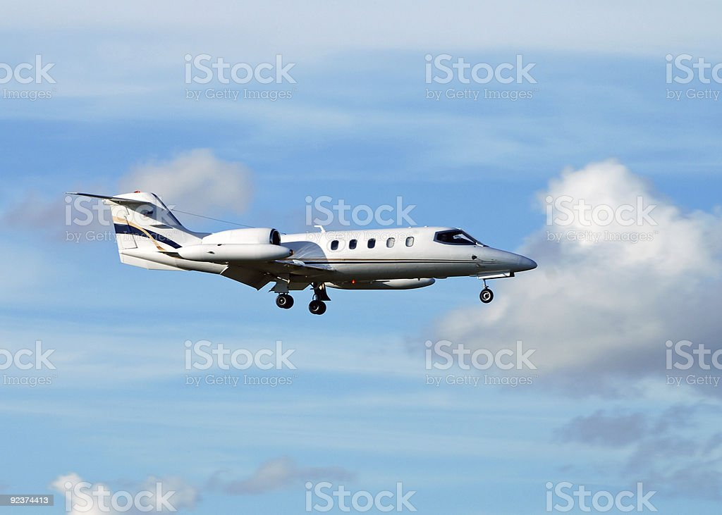 Business jet airplane royalty-free stock photo