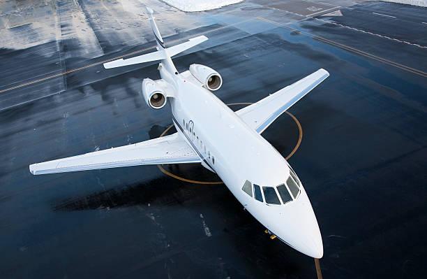 Business Jet Falcon stock photo