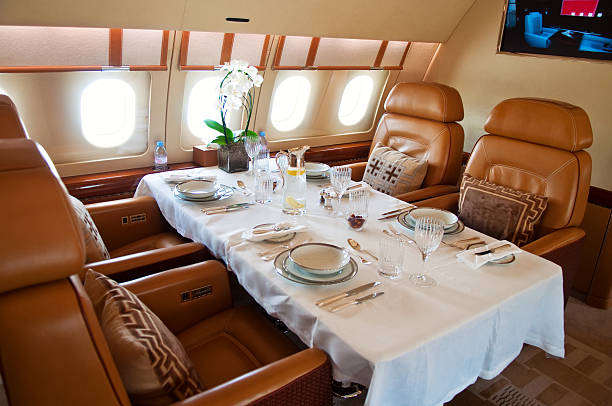 Business Jet Interior stock photo