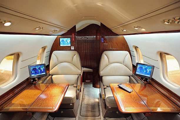 Business jet interior  military private stock pictures, royalty-free photos & images