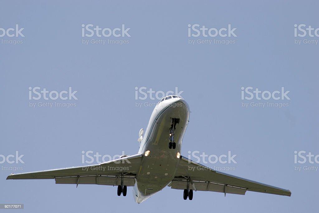 Business Jet landing royalty-free stock photo