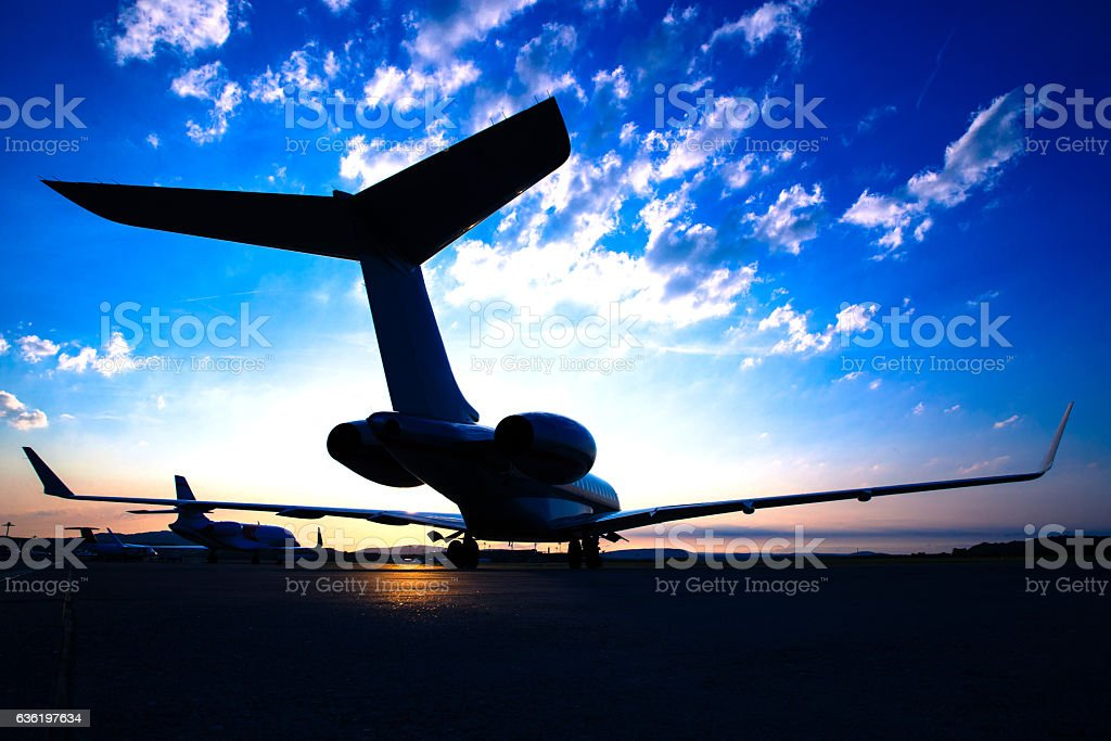 Business Jet stock photo