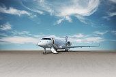Business jet plane.