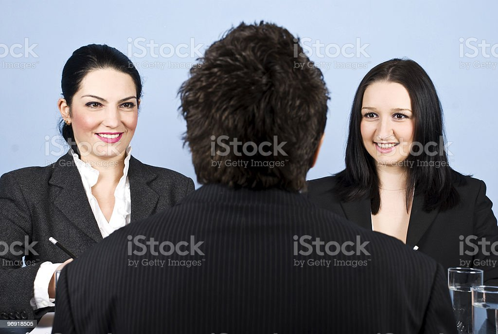 Business job interview royalty-free stock photo