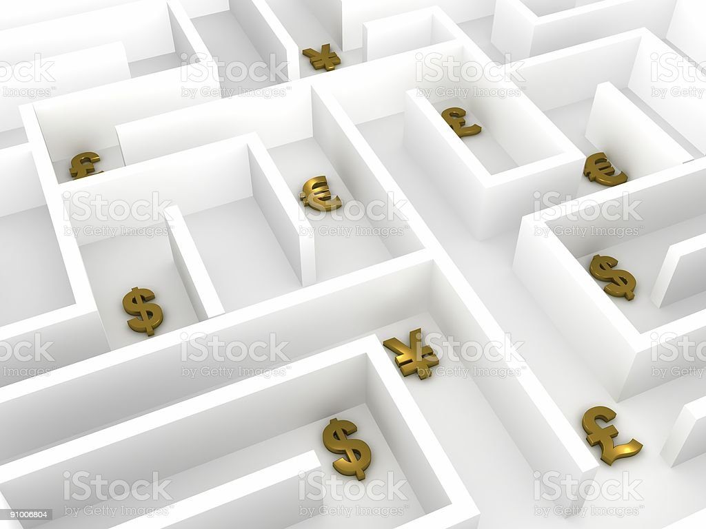 Business Labyrinth royalty-free stock photo