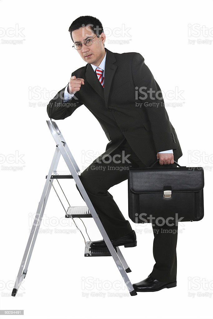Business Ladder Pointing to you stock photo