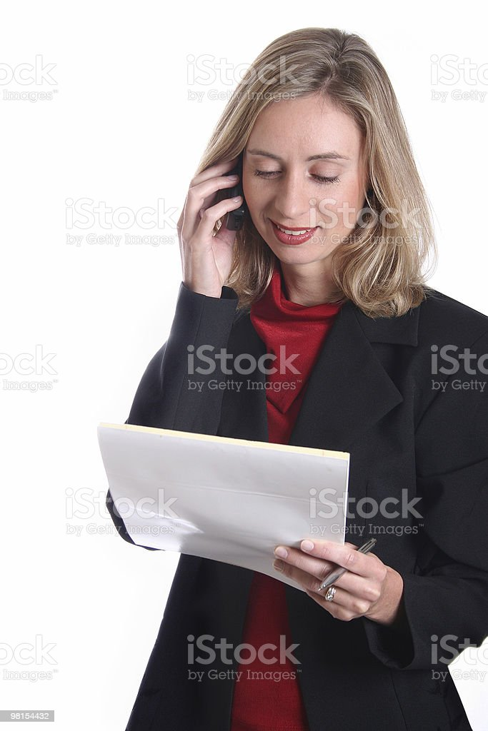 Business Lady on phone royalty-free stock photo