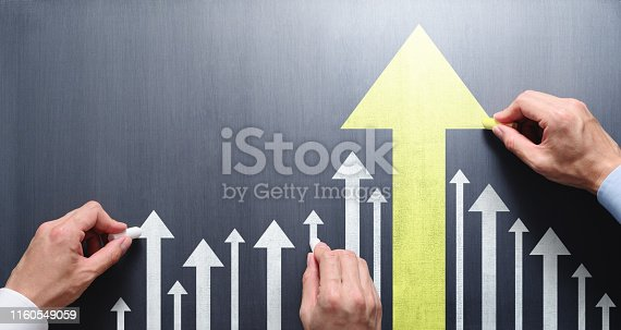 istock Business leadership and development concept. 1160549059