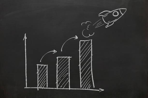 Business Leadership Graph Chart Rakete – Foto