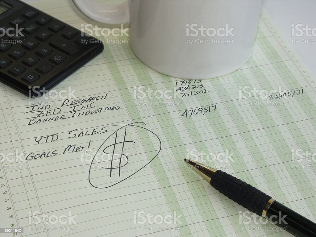 Business Ledger With Dollar Sign royalty-free stock photo
