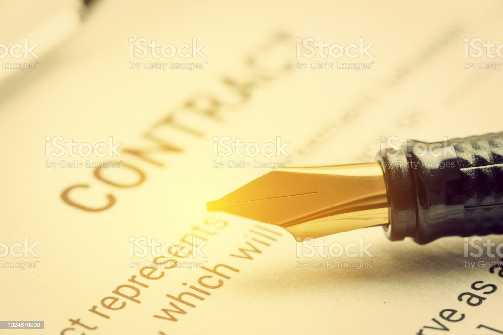 Business legal document, contract / agreement concept : Fountain pen...