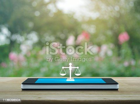 istock Business legal service online concept 1136098504