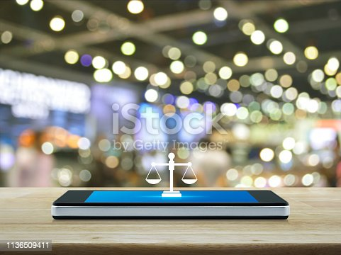 istock Business legal service online concept 1136509411