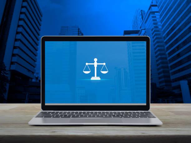 Business legal service online concept stock photo