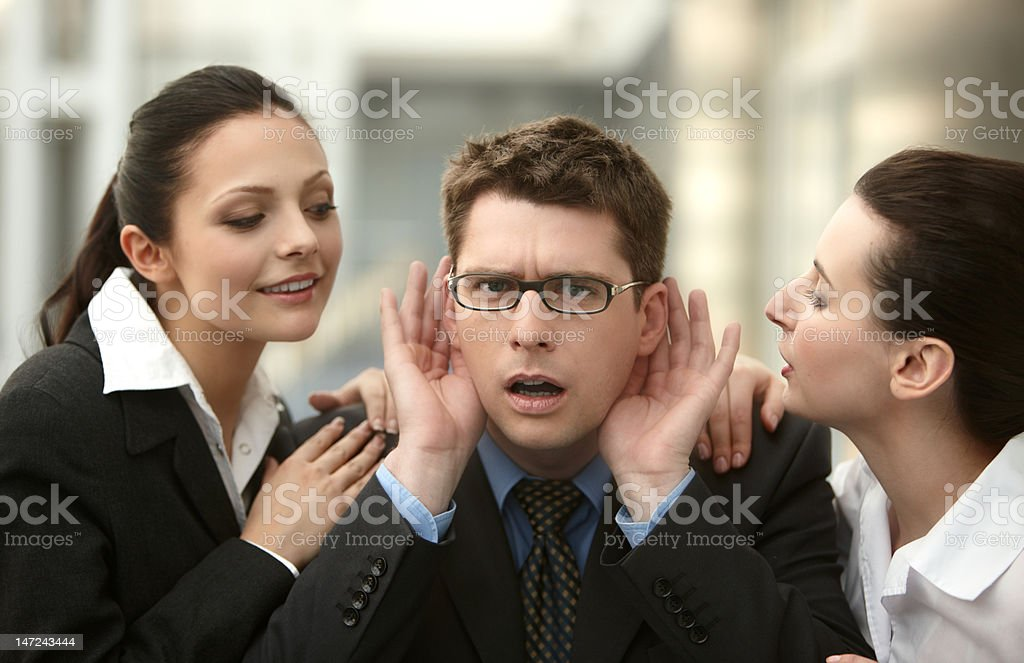 Business listening to the market royalty-free stock photo