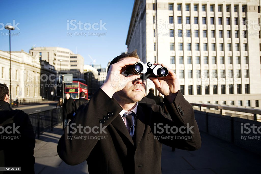 Business lookout royalty-free stock photo