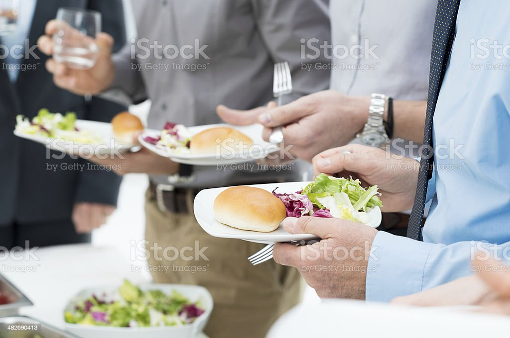 Business Lunch Detail stock photo