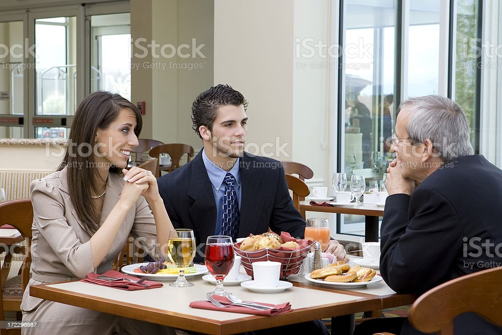 Business Lunch Meeting royalty-free stock photo