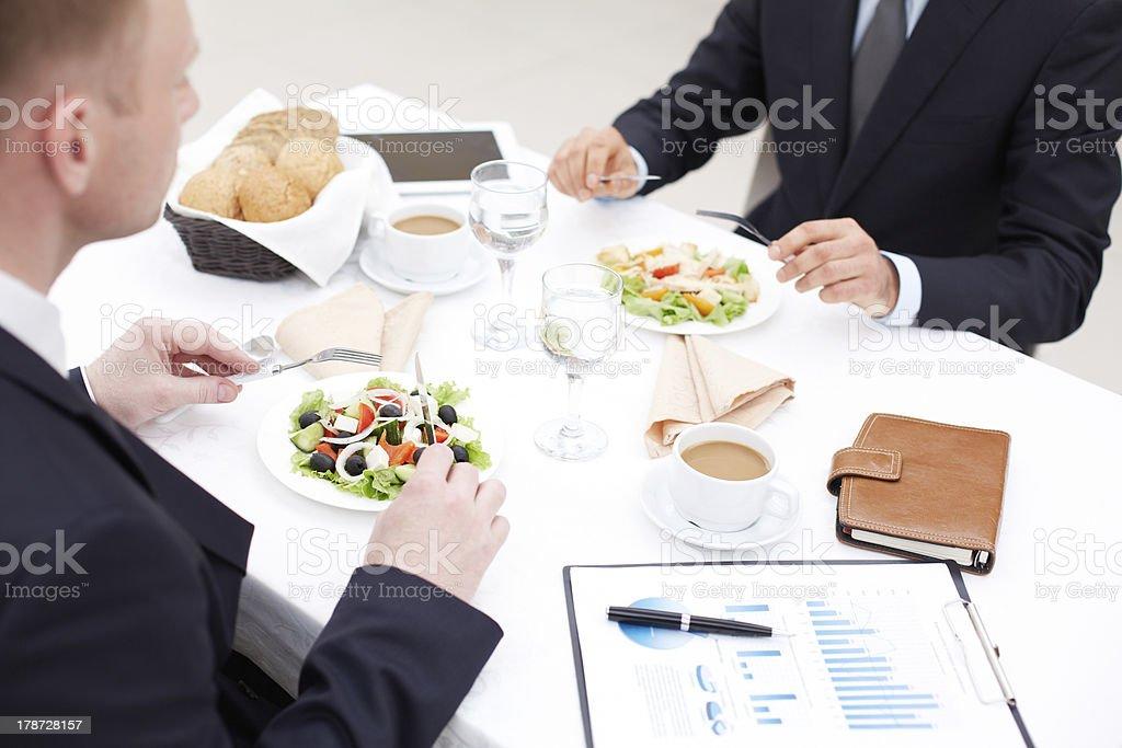 Almuerzo de negocios foto de stock libre de derechos