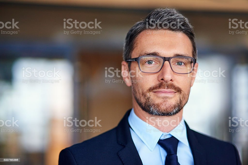 Business magnate stock photo