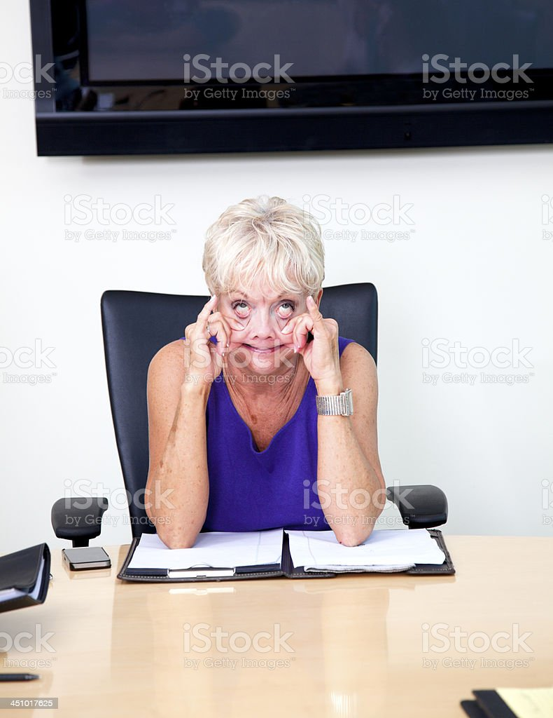 Business: Making a Face stock photo