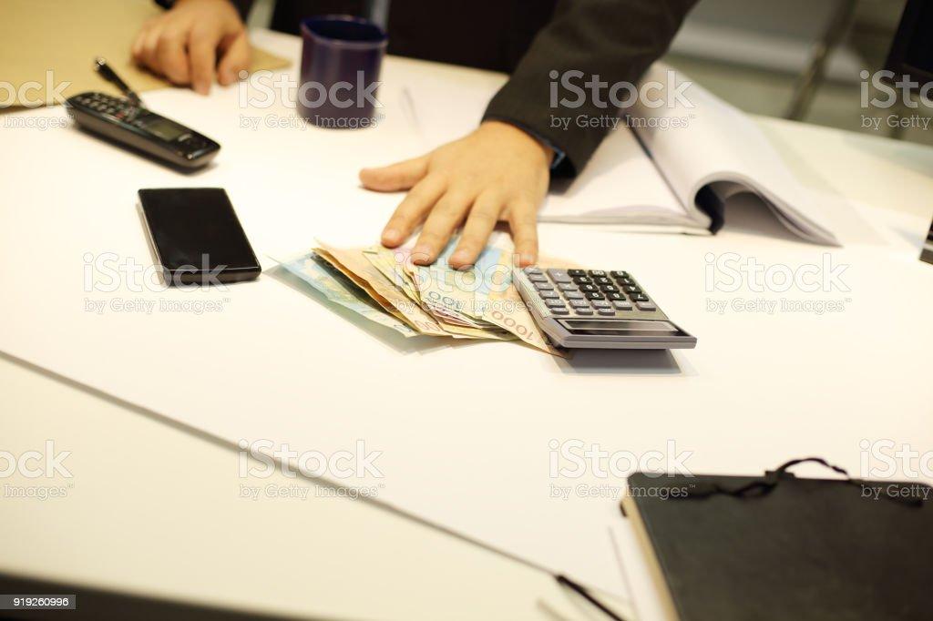 Business making notes - Foto stock royalty-free di Accordo d'intesa