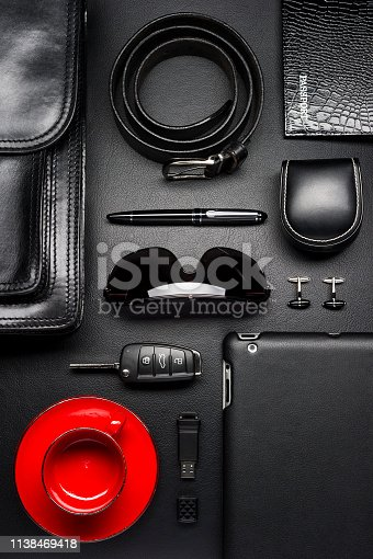 625840656 istock photo Business man accessories 1138469418