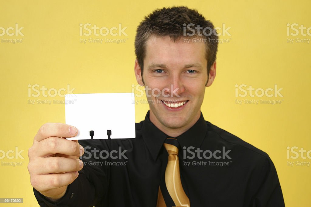 Business Man and Card royalty-free stock photo