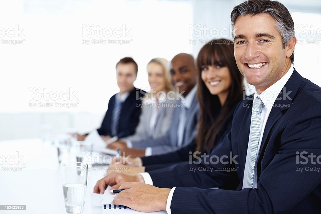Business man and his team royalty-free stock photo