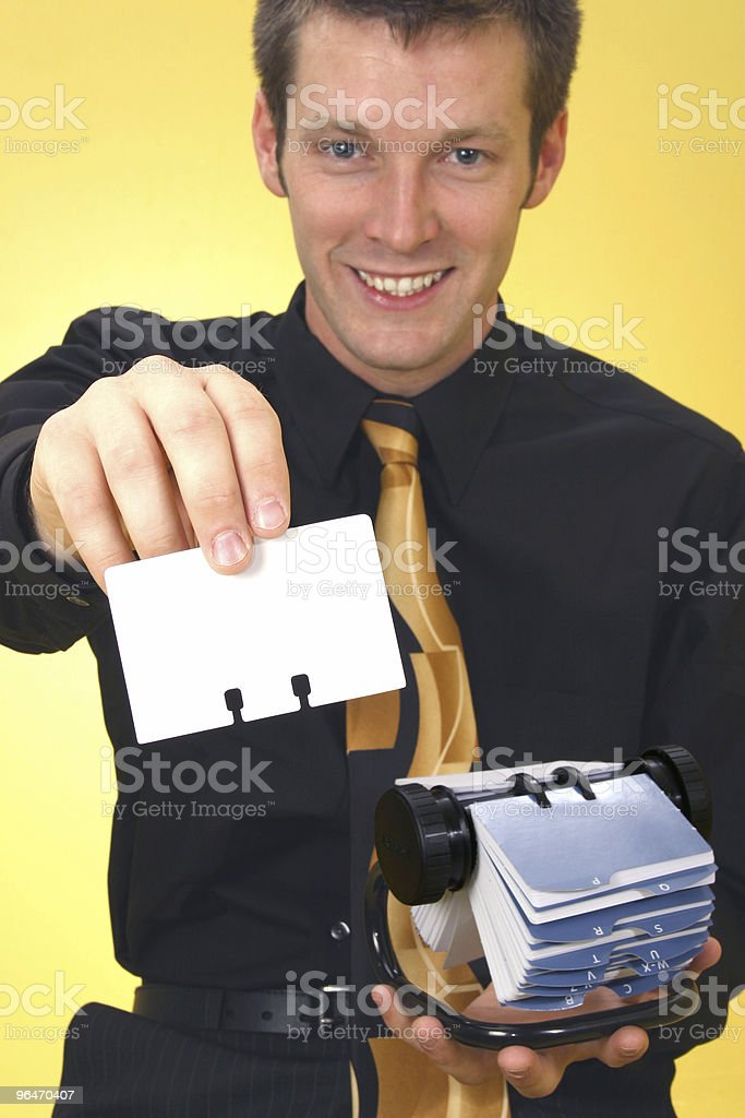 Business Man and Rolodex royalty-free stock photo