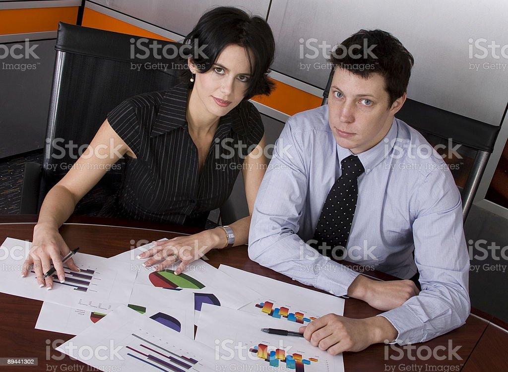 Uomo d'affari e donna foto stock royalty-free
