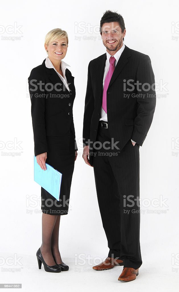 Business man and woman royalty-free stock photo