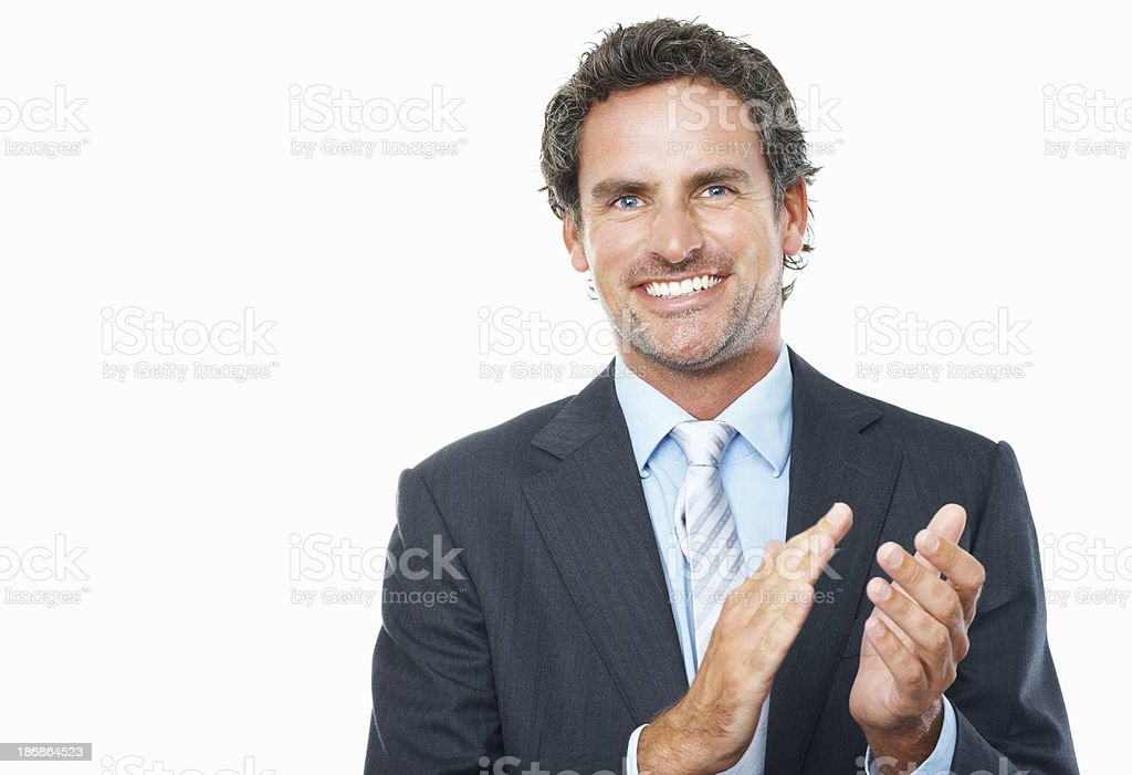 Business man applauding royalty-free stock photo