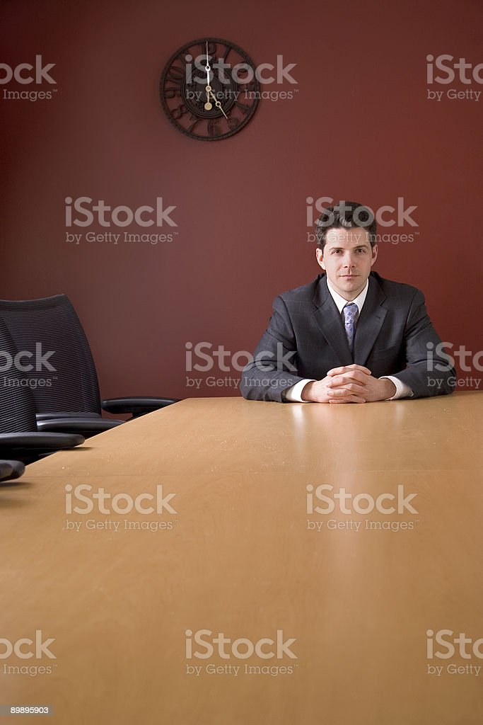 Business Man at Conference Room Table royalty-free stock photo