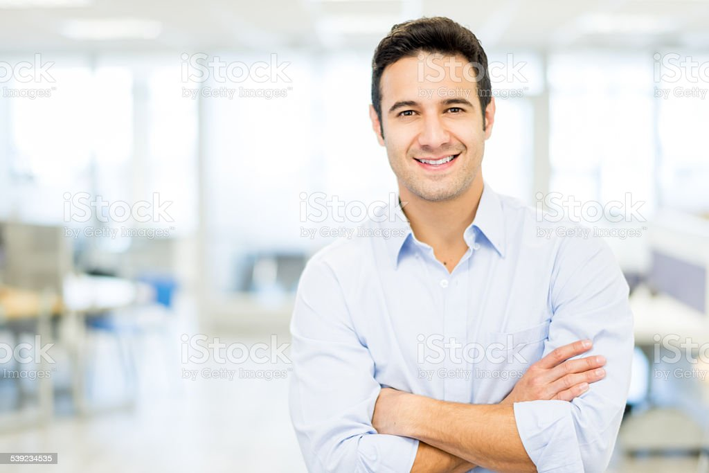 Business man at the office royalty-free stock photo