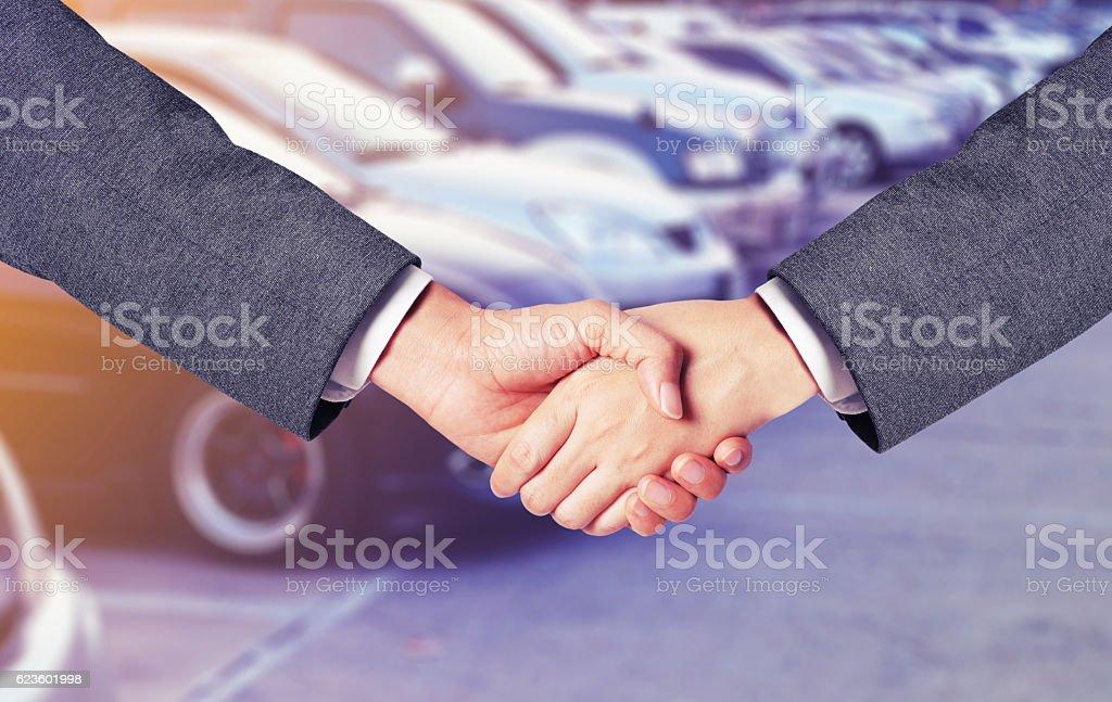 business man buy car stock photo