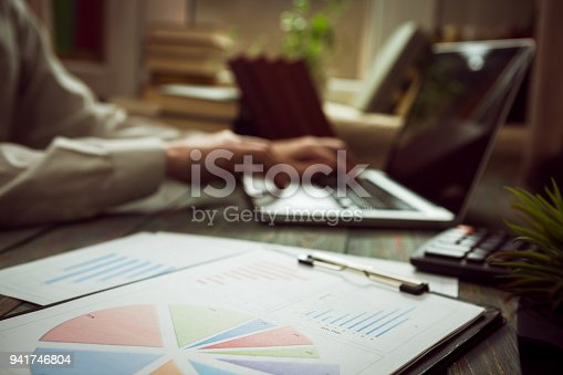 645670208istockphoto Business man calculate about cost and doing finance at office 941746804
