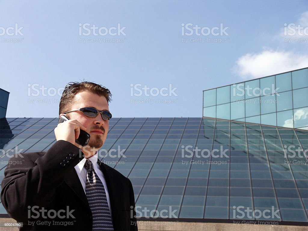 Business Man - Cell Phone stock photo