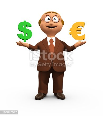 3D Character Animations With Various Concepts. Cute business man character on a white background. High quality render, banding free, minimum compression for highest quality.