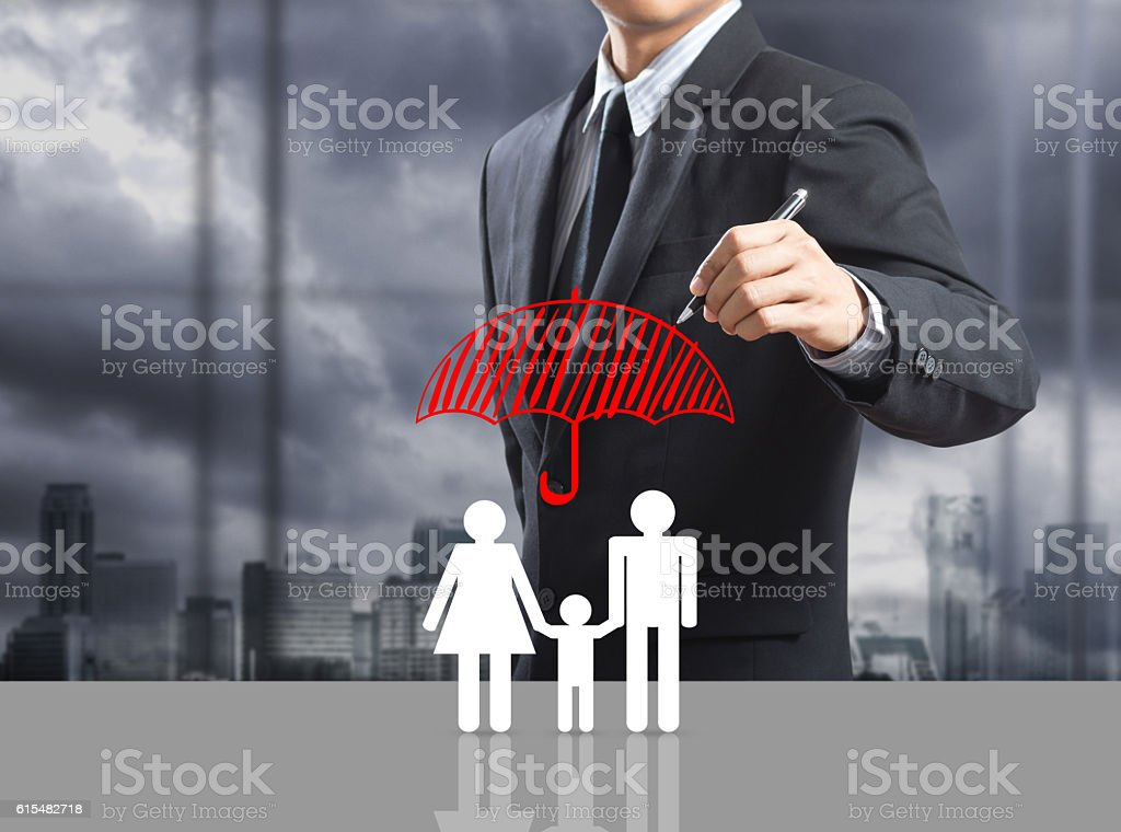 Business man drawing concept stock photo