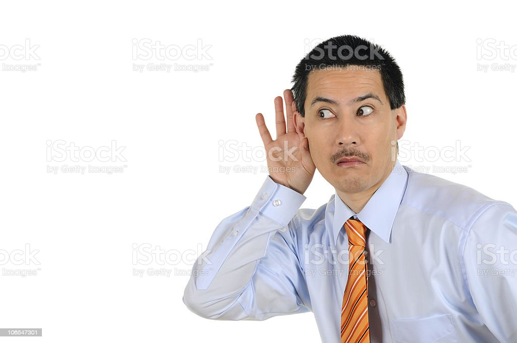 Business Man eavesdropping royalty-free stock photo