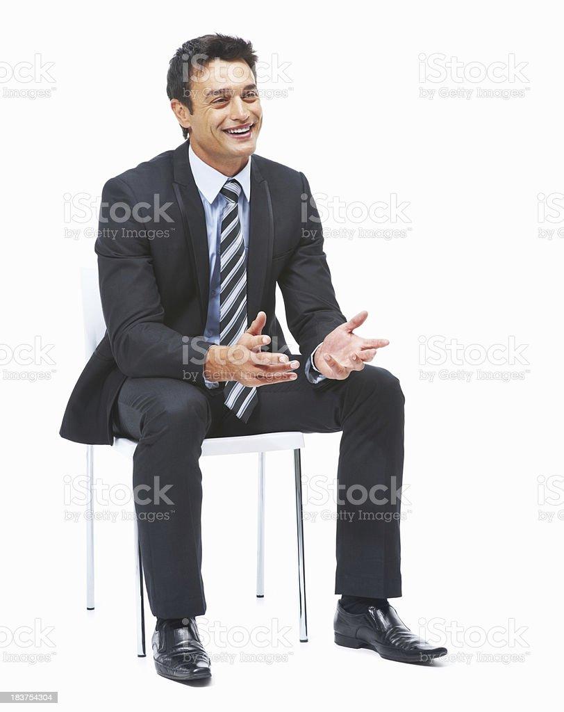 Business man explaning something royalty-free stock photo