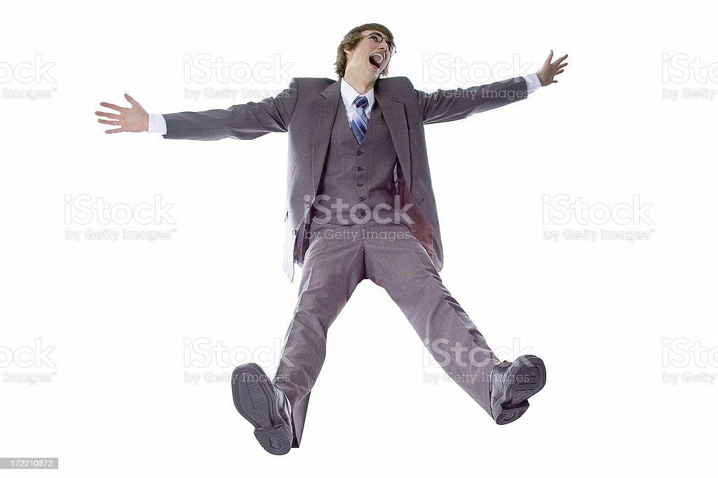 Un hombre de negocios caída - foto de stock
