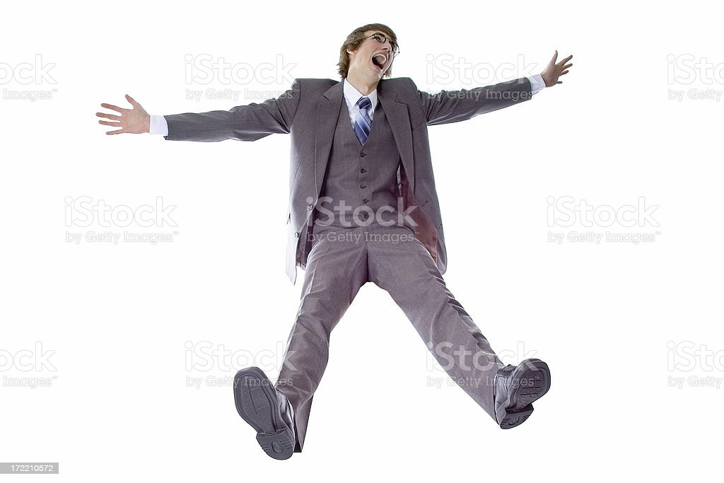 Business Man Falling stock photo