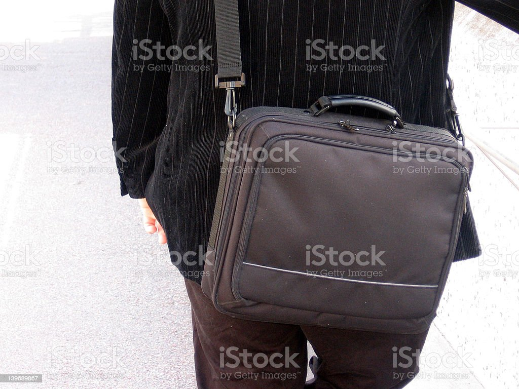 Business man from behind stock photo