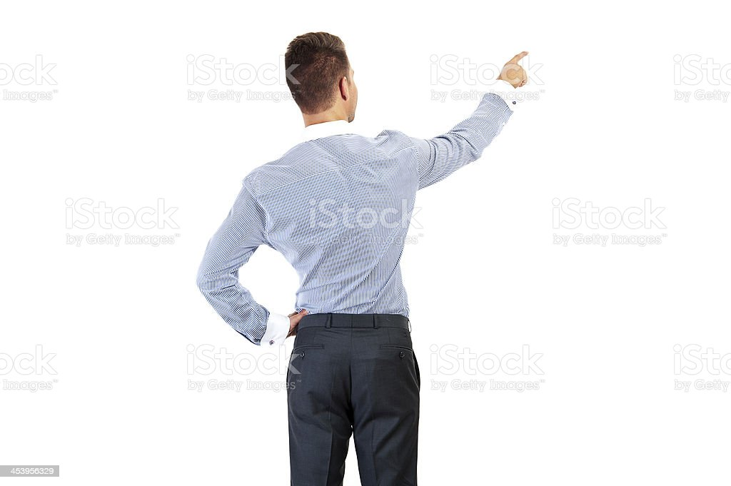 business man from the back - looking at something royalty-free stock photo