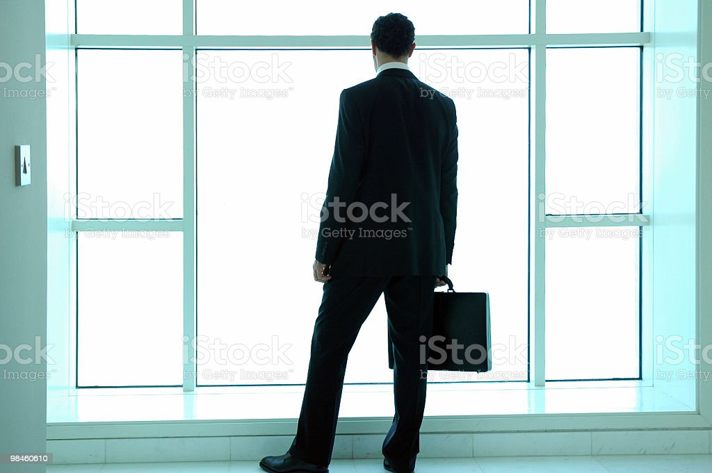 Business Man from the Rear royalty-free stock photo