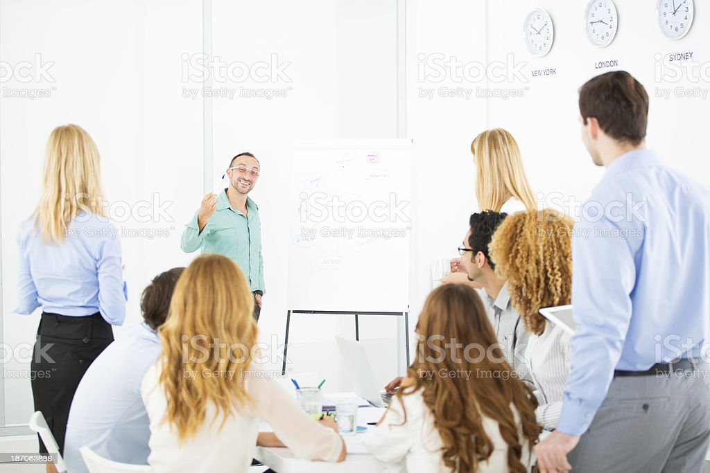 Business Man Giving Presentation at work. royalty-free stock photo