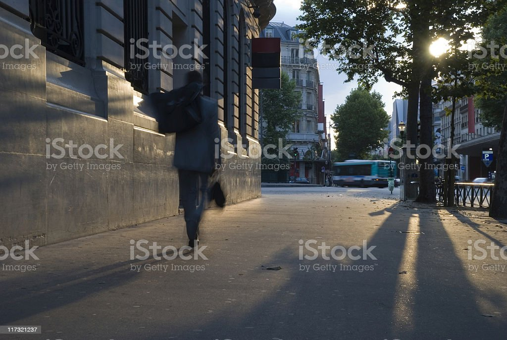 Business man going out of work royalty-free stock photo